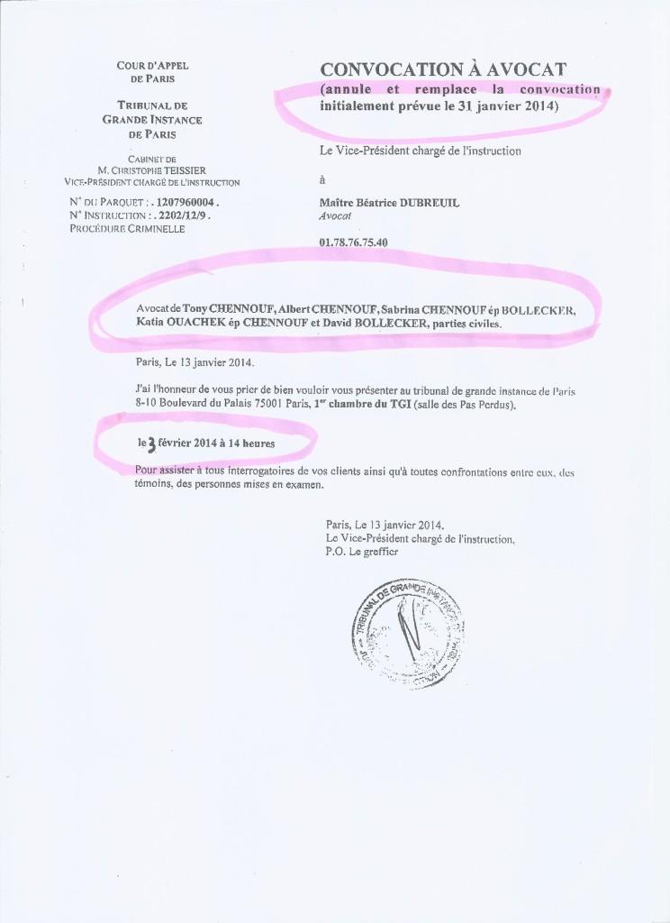 Convocation du juge Tessier (2)