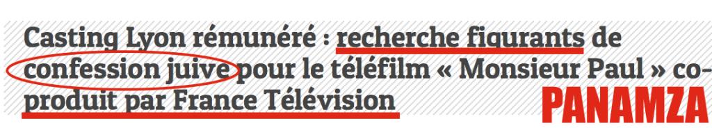 Quand France 2 recherche des figurants « de confession juive »