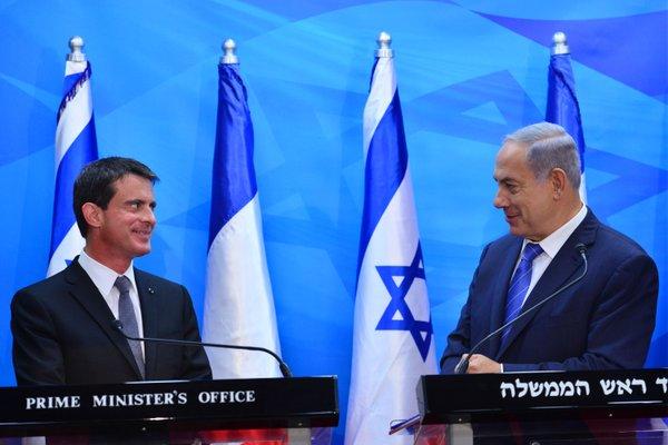 Face à Netanyahou, Valls bafouille et fait profil bas