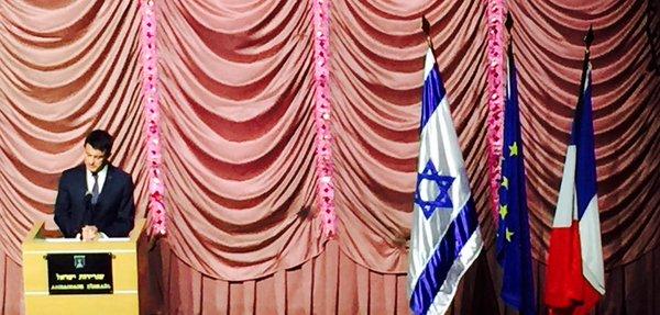 Valls célèbre «la pureté blanche» du drapeau israélien