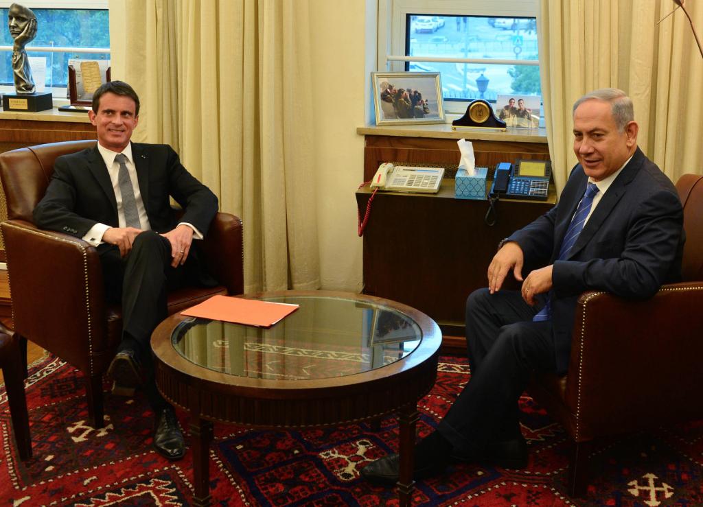 Valls revendique son «lien éternel avec Israël»