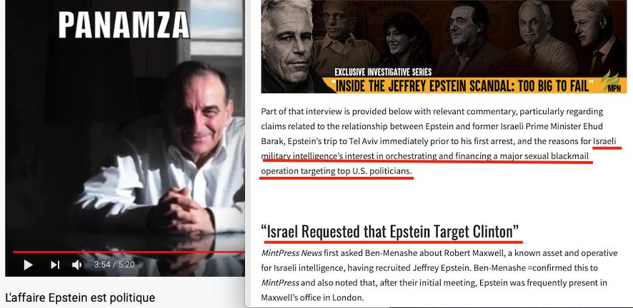 Un ex-espion israélien balance Epstein : la presse vous cache l'info