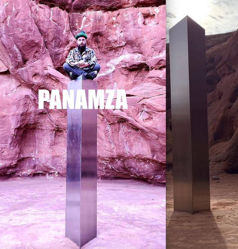 Qui a déposé ce monolithe métallique en plein désert ?